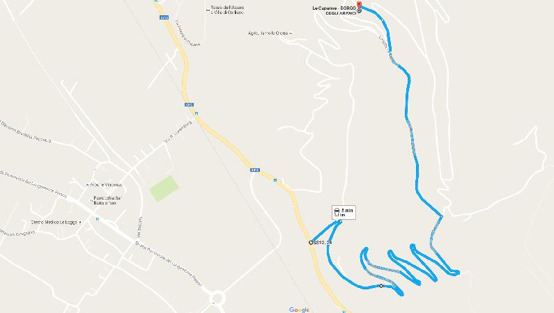 Mappa le Capanne
